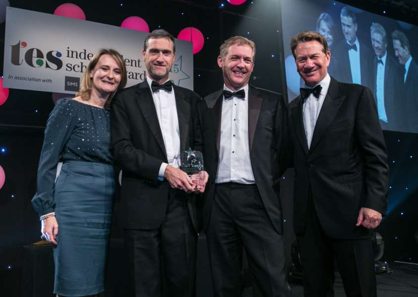 Uppingham School winners at the Independent Schools awards night Photo: Peter Searle