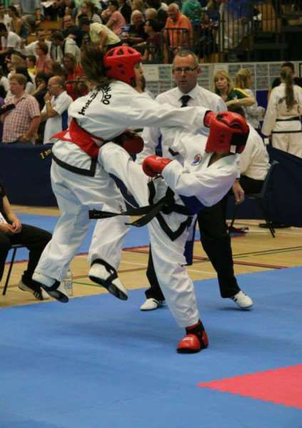 Action from Stamford and Oakham Taekwondo fighters at the World Championships EMN-150715-145921001