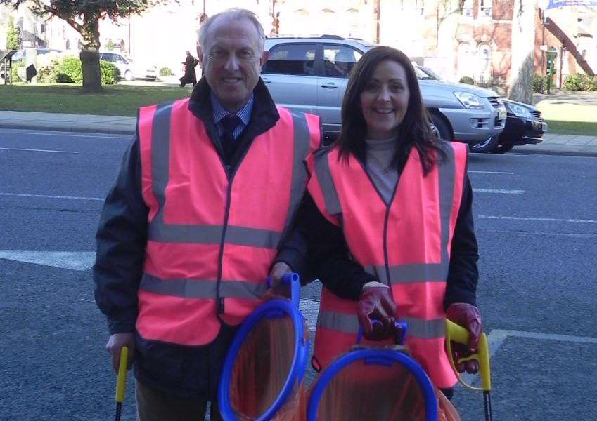 Councillor Nick Craft and Debbie Mewes of South Kesteven District Council. Photo supplied.
