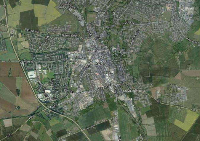 A map showing the South Kesteven area. Submitted.
