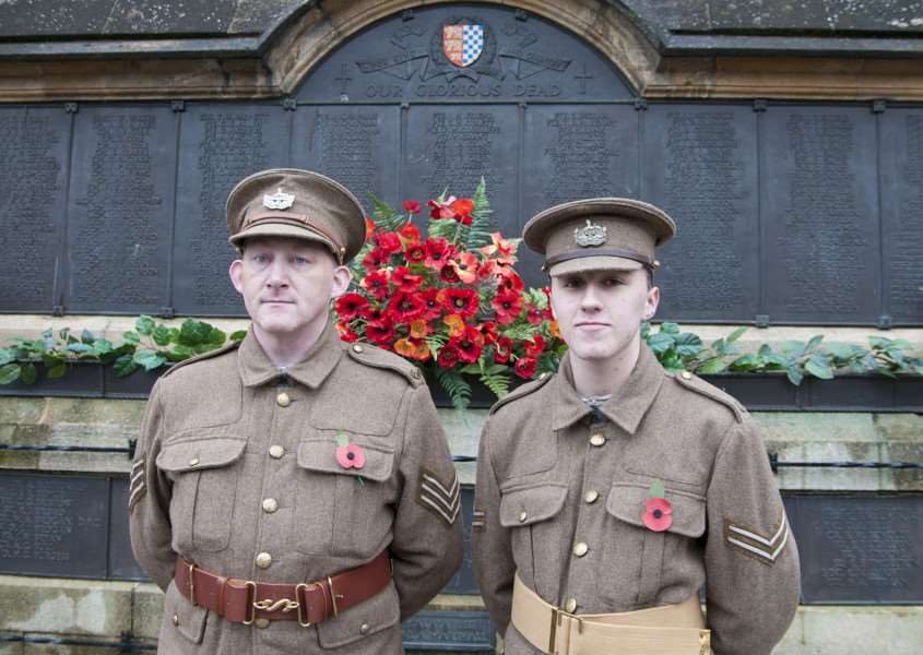 Remembrance service and parade in Stamford, November 2015.''Photo: Lee Hellwing EMN-150911-104144001