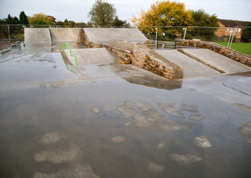 Uppingham Skatepark, which is almost finished. Photo: Neil Wedge EMN-151130-163314001
