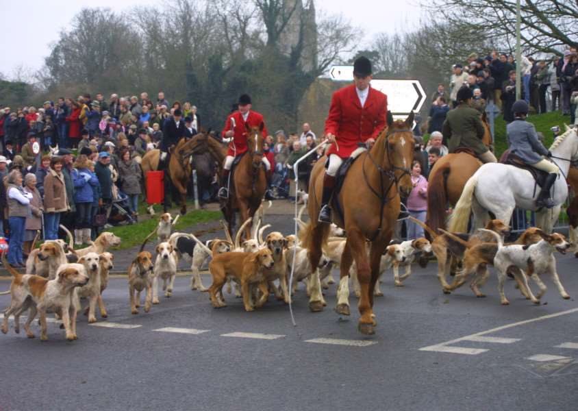 The Cottesmore Hunt Boxing Day meet at Cutts Close in Oakham.