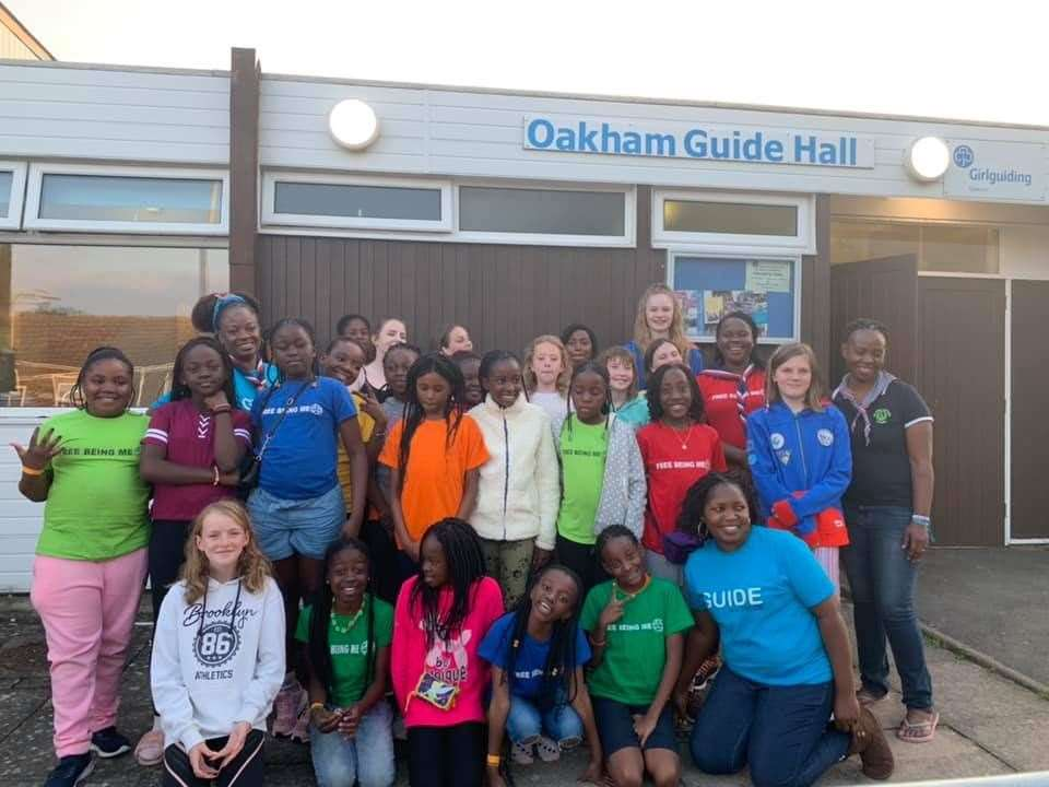 The guides outside Oakham's Guide Hall