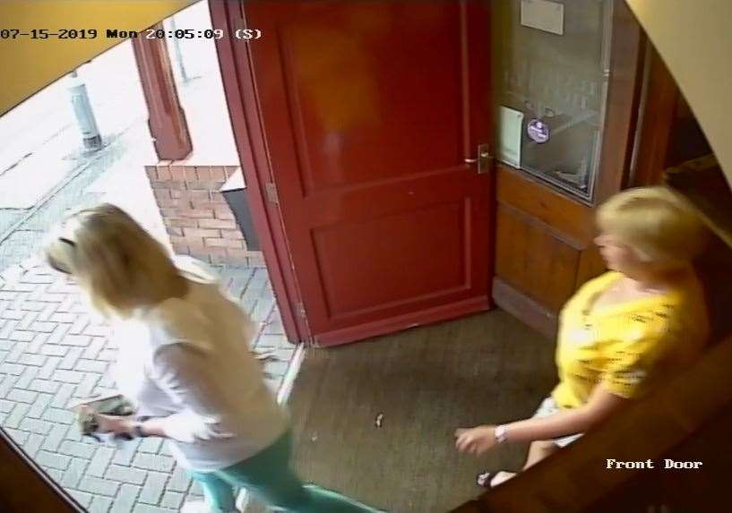 CCTV of the two women police would like to speak to