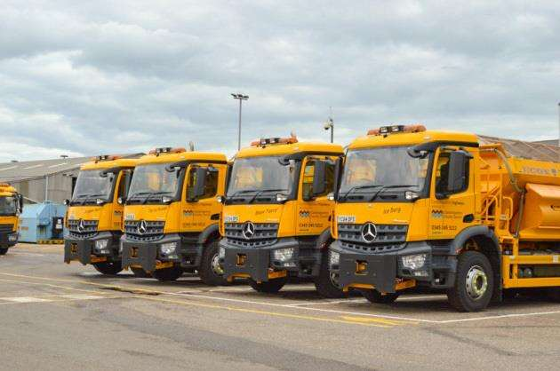Gritters have been out on trial runs ready for the winter. (5633051)