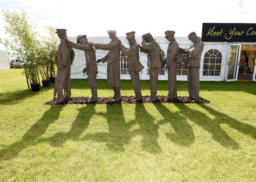 The First World War commemorative sculpture at the Lincolnshire Show. EMN-160622-115744001